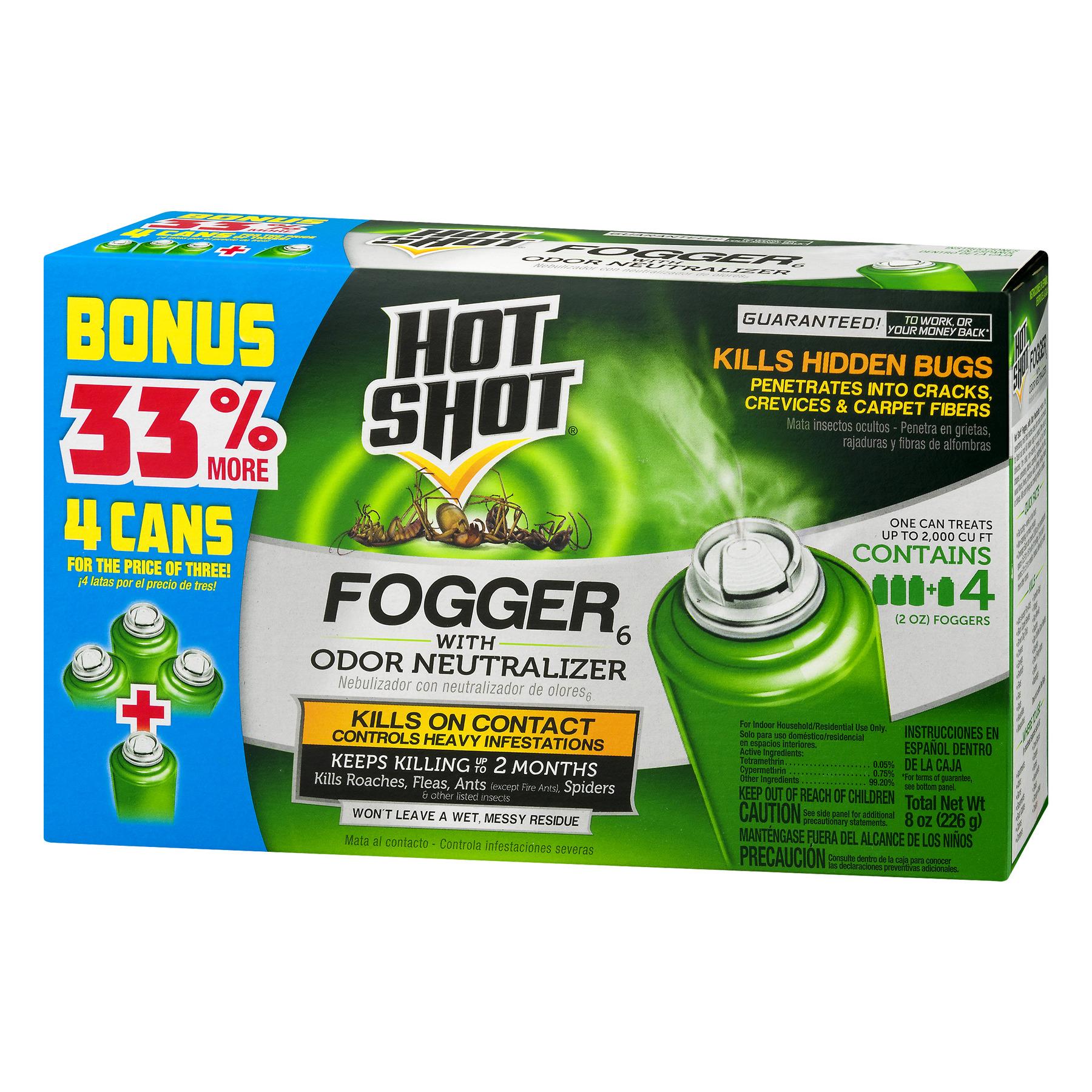 Hot Shot Fogger with Odor Neutralizer Bonus Pack, 2-Ounce - Walmart.com