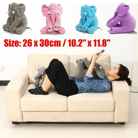 3SIZE 4color Soft Stuffed Plush Elephant Sleep Pillow Baby Kids Lumbar Cushion Lovely Cute Doll Toys Birthday Gift