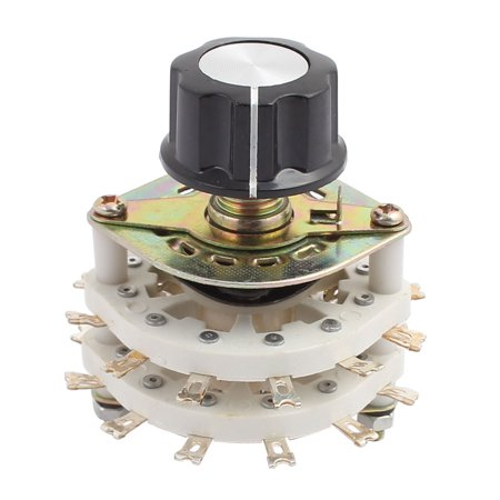 KCT 6 Pole 3 Position Dual Decks Band Channel Rotary Switch Selector w Cap - image 2 of 2