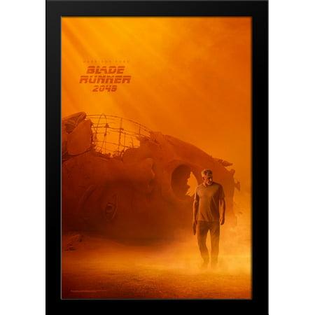 Blade Runner 2049 28X36 Large Black Wood Framed Movie Poster Art Print