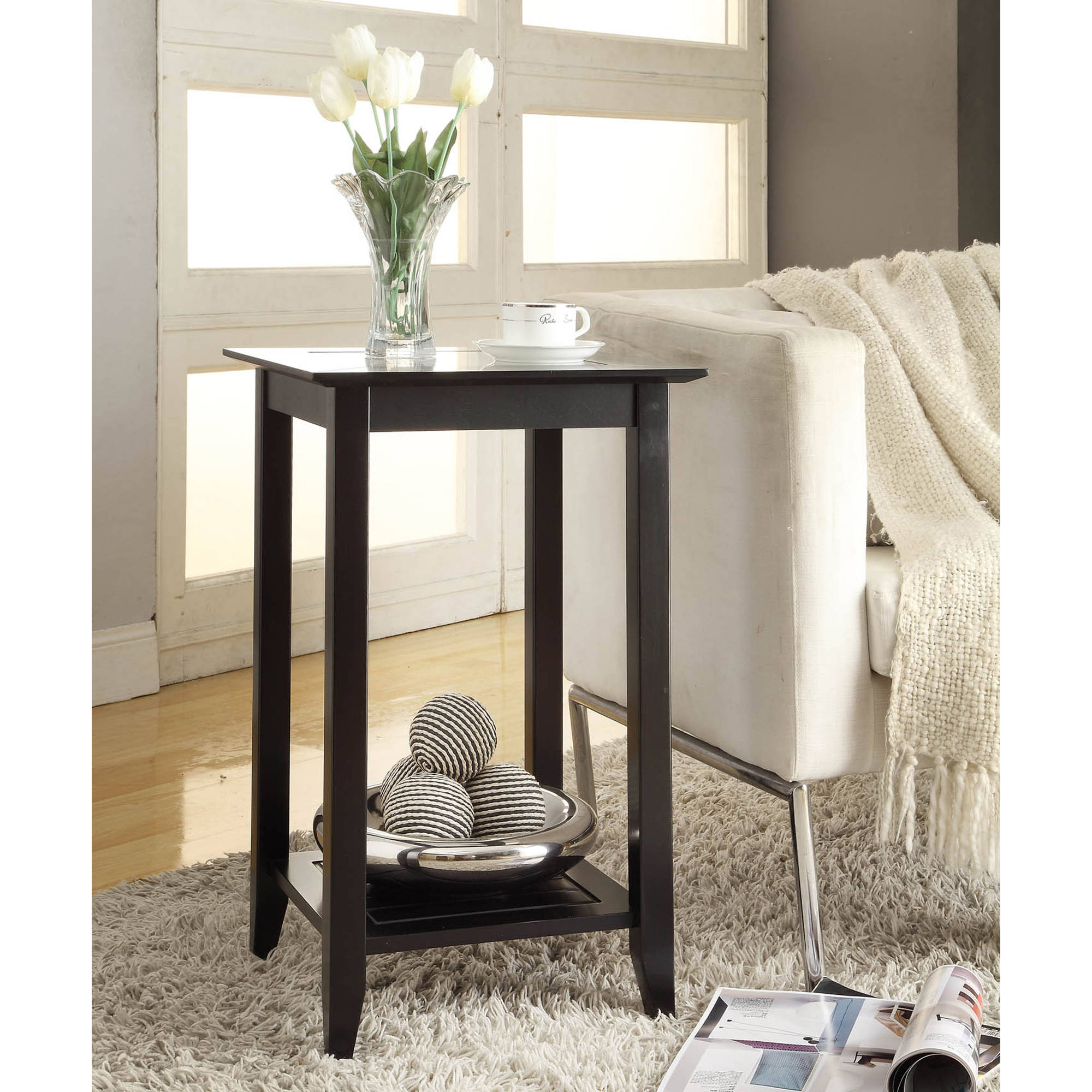 Convenience Concepts Carmel Tall End Table, Multiple Colors