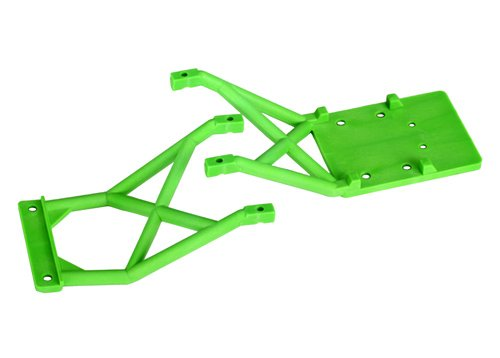 3623A Front and Rear Green Skid Plates, Use Traxxas stock and hop-up replacement parts to... by