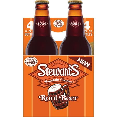 (3 Pack) Stewart's Root Beer Made with Sugar, 12 fl oz, 4 (Ibc Root Beer)