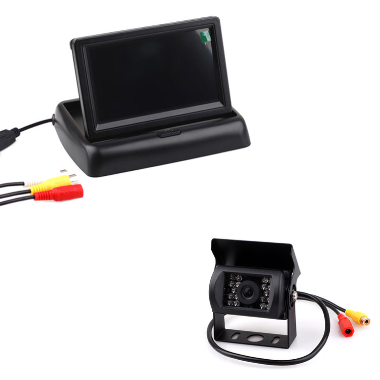 "4.3"" LCD Car Reverse Rearview Monitor with 18 LED IR Car Rearview Camera Kit"