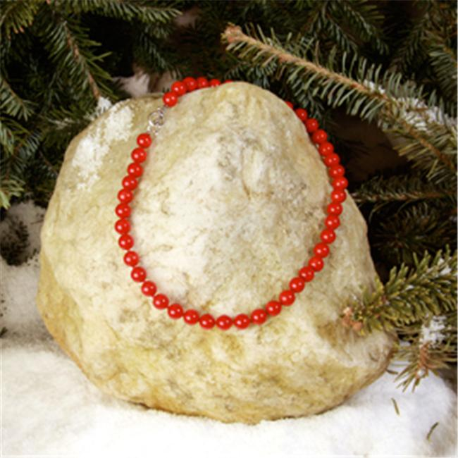Betty Rocks BNKCRR101090016T1 16 inch 9mm Round Red Coral Necklace by Betty Rocks