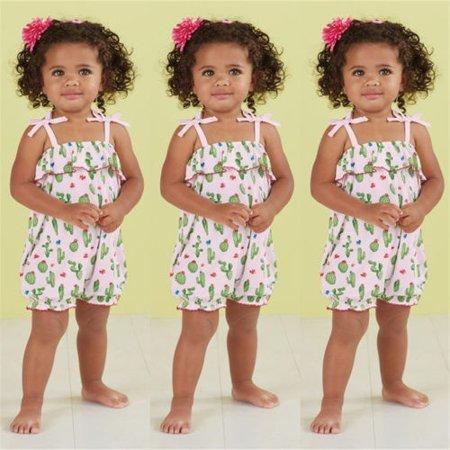 Newborn Baby Girls Cactus Flower Romper Bodysuit Jumpsuit Outfit Clothes](Cactus Outfit)