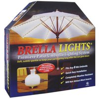 Brella Lights Patio Umbrella Lighting System With 120-Vac Power Pod 3-Outlet Receptacle, White