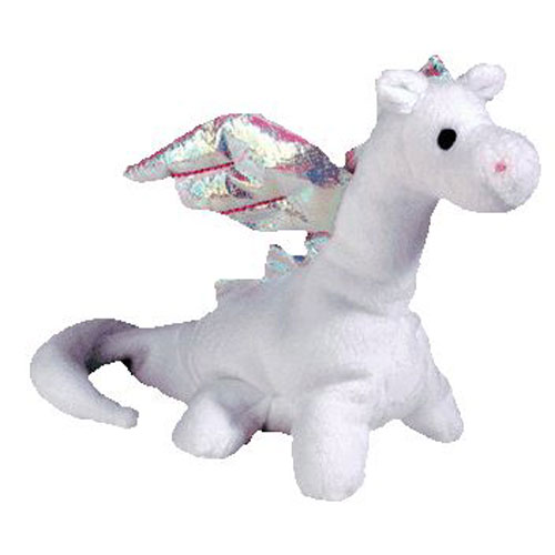 TY Beanie Baby - MAGIC the White Dragon (4th Gen hang tag) (7 inch)