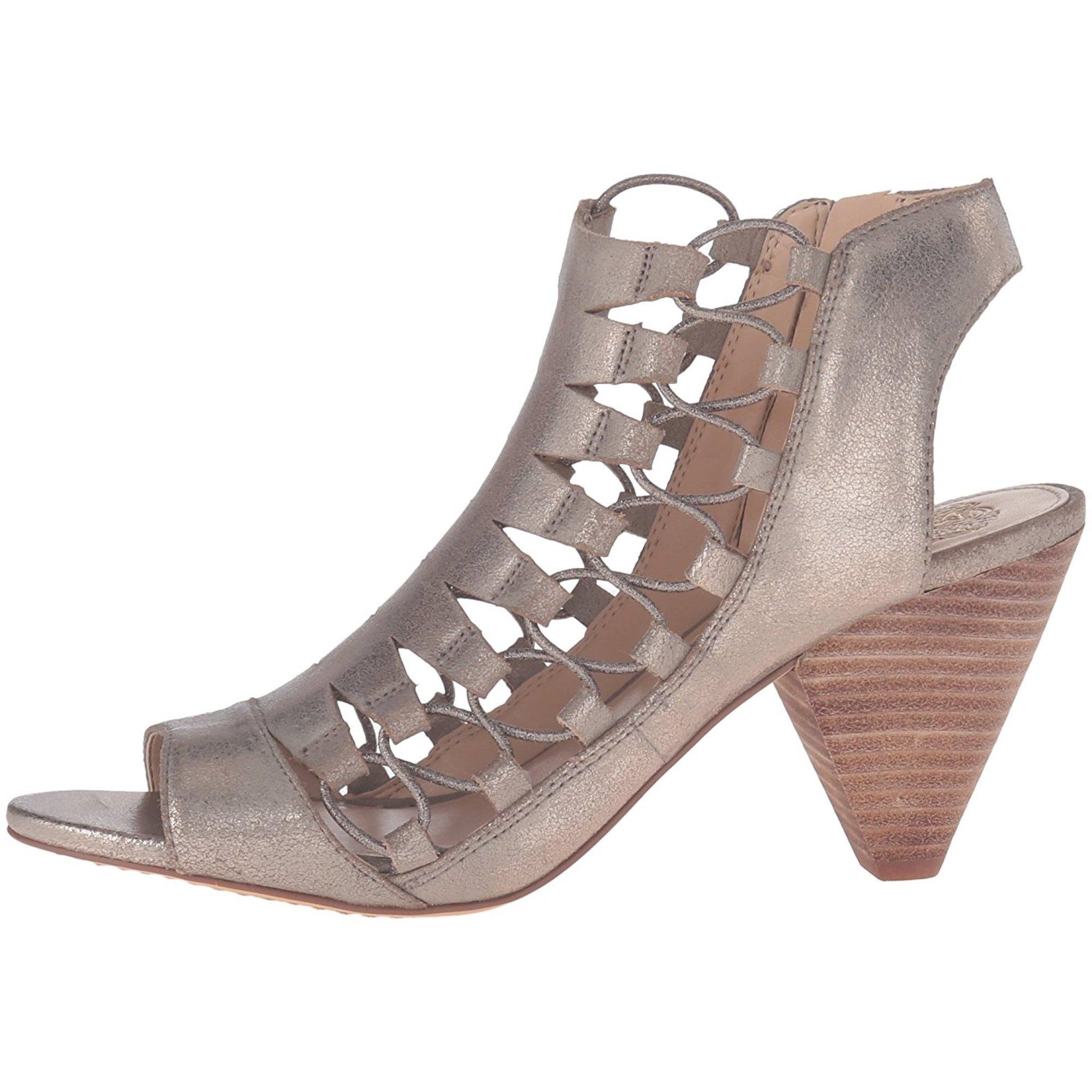 70fb583dd7b Vince Camuto Womens Eliaz Leather Peep Toe Casual Strappy