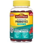 Nature Made Digestive Probiotics + Energy B12 Adult Gummies 50 Count
