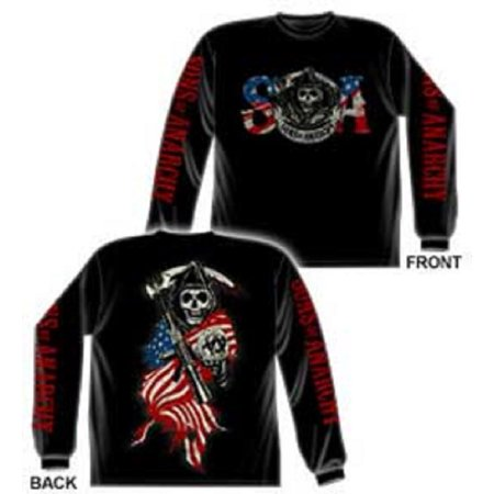 Sons of Anarchy American Anarchy Long Sleeve T-Shirt