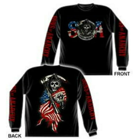 Sons of Anarchy American Anarchy Long Sleeve (Sons Of Anarchy Old Lady T Shirt)