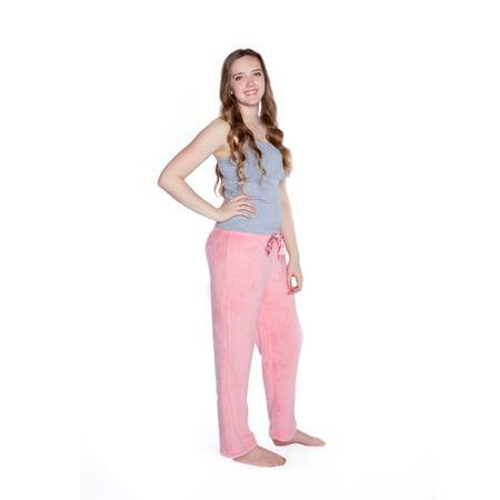 Big Feet Pjs Warm and Cozy Pink Plush Pajama Pants Bottoms - Unicorn Pjs