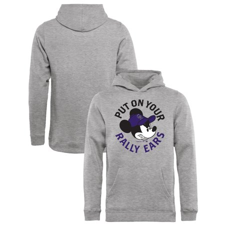 the best attitude 54311 0a697 Colorado Rockies Fanatics Branded Youth Disney Rally Ears Pullover Hoodie -  Heathered Gray