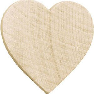 100 Pc, 1-1/4 Inch Wood Hearts 1/8 In Thick by My Craft - Wood Craft Supplies