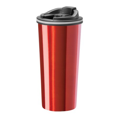 Double Wall Stainless Steel Liner (OGGI 8063 Double Wall Stainless Steel Travel Mug with Liner and Flip Open Top, 0.5 L/16 oz. )