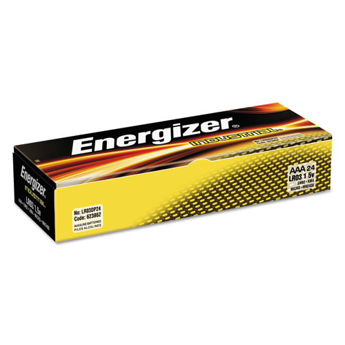 Energizer Industrial Alkaline AAA Batteries, 24 Count