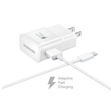 5 PACK - OEM Quick Fast Charger For Samsung Galaxy A8+ (2018) Cell Phones [Wall Charger + 4 FT USB C Cable] - AFC uses Dual voltages For up to 50% Faster Charging! - Bulk Packaging - White - image 2 of 9