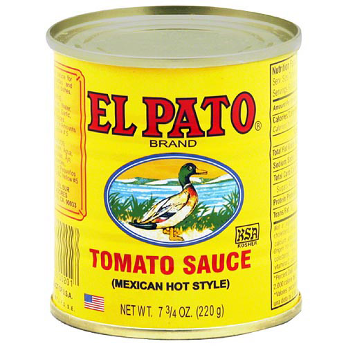 El Pato Mexican Hot Style Tomato Sauce, 7.75 oz (Pack of 24)