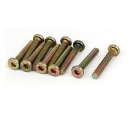 Uxcell M6 x 35mm Fully Thread Hex Socket Drive Flat Head Screws Bolts Fasteners (10-pack)