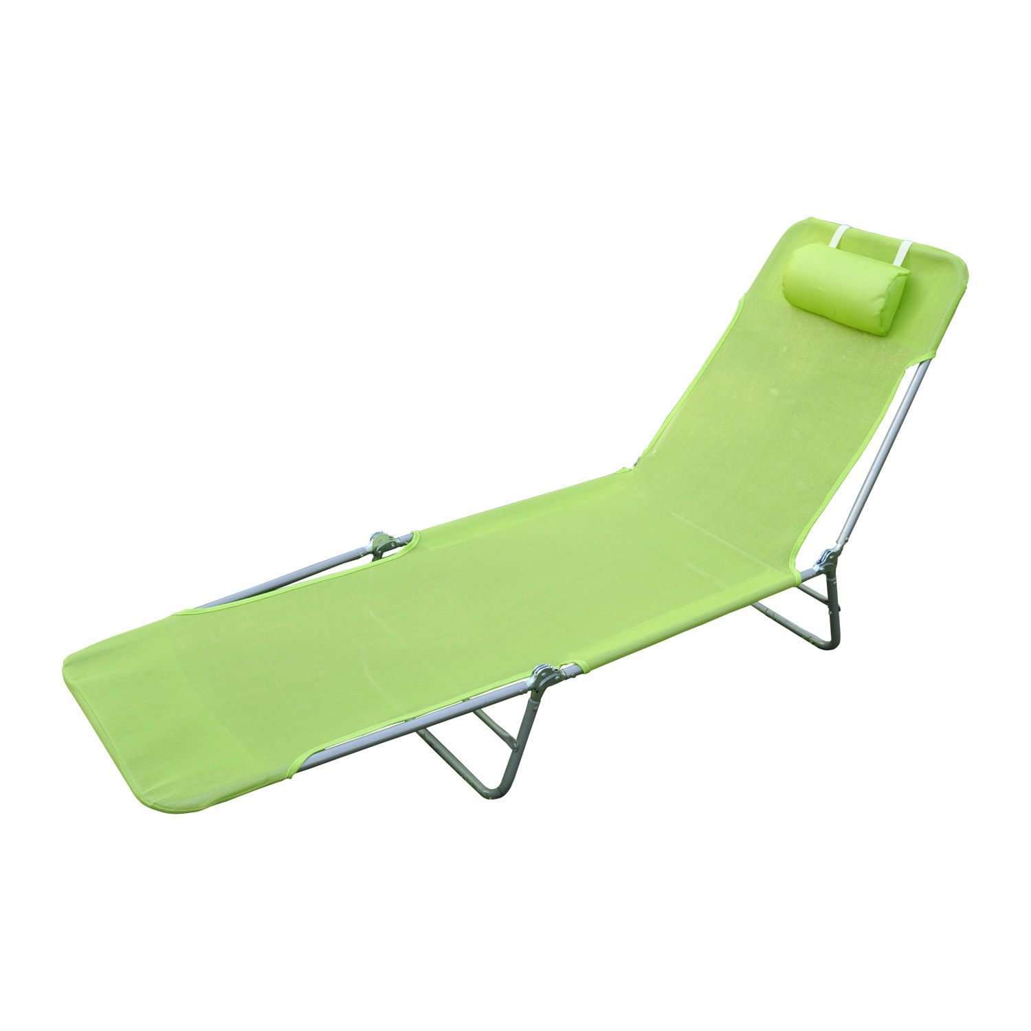 Outsunny Folding Beach Chaise Lounge / Pool Reclining Chair - Green  sc 1 st  Walmart : folding beach chaise - Sectionals, Sofas & Couches