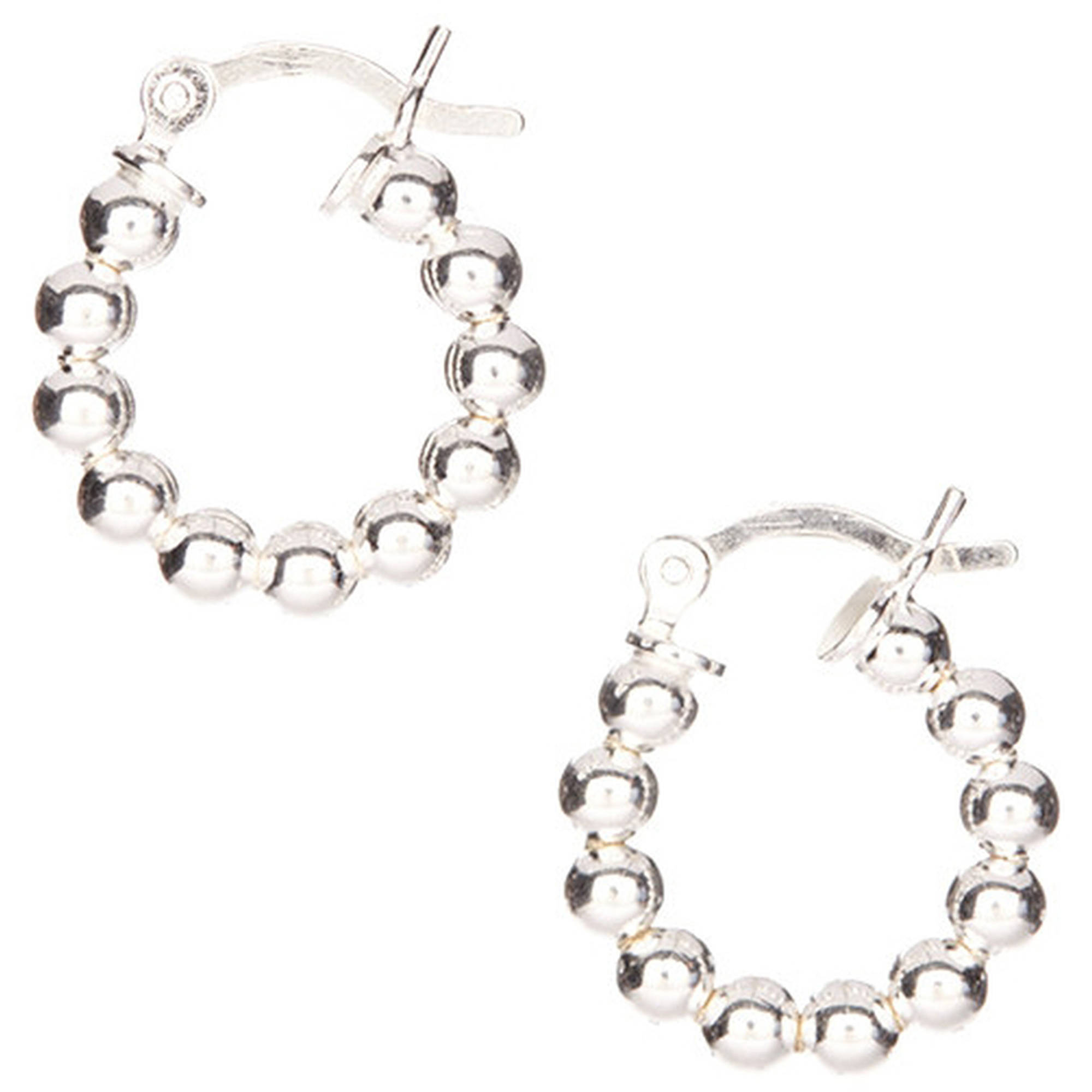 PORI Jewelers Sterling Silver Ball Hoop Earrings