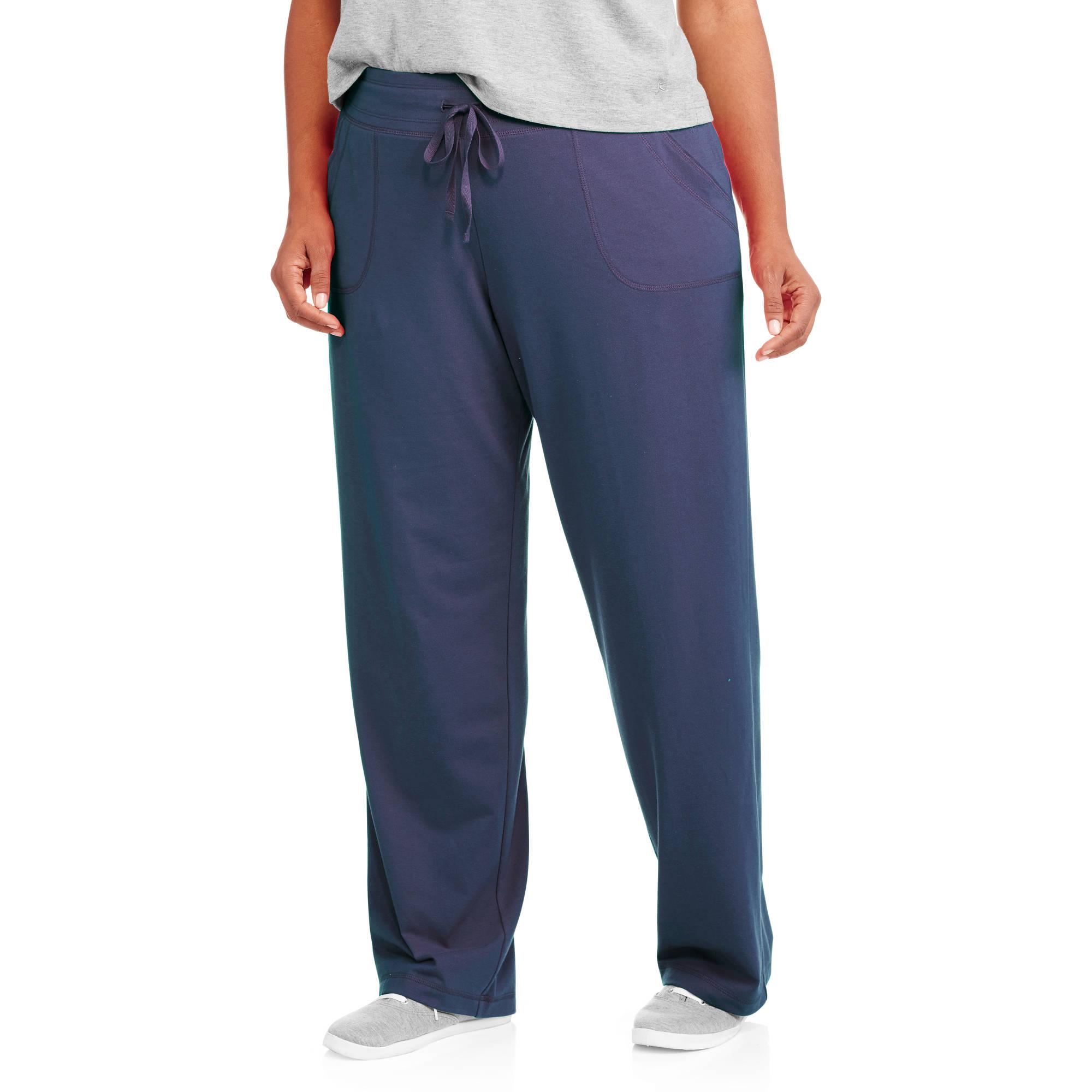 Danskin Now Women's Plus-Size Essential Knit Pants with Drawstring