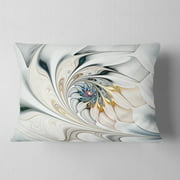 White Stained Glass Floral Art - Floral Throw Pillow - 16x16
