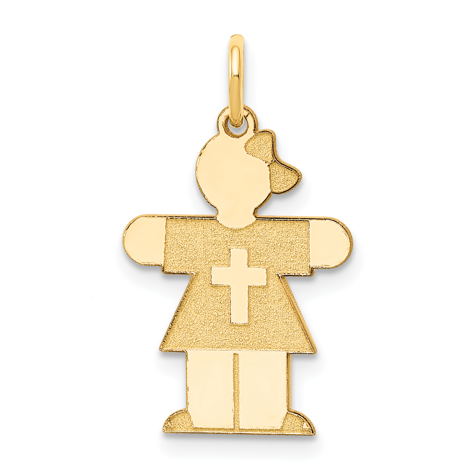 14k Yellow Gold Kid Pendant Charm Necklace Fine Jewelry Gifts For Women For Her - image 2 of 2