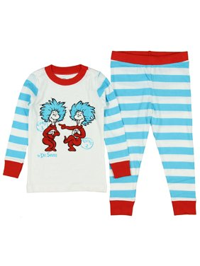 Intimo Boys' Dr. Suess Thing 1 Thing 2 Pajamas (3T)