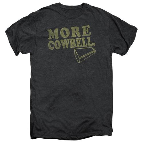 Saturday Night Live SNL More Cowbell Mens Premium Tee Shirt Smoke Heather XL
