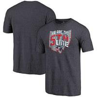 Columbus Blue Jackets Hometown Collection Tri-Blend T-Shirt - Navy