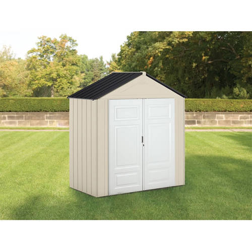 Rubbermaid 7' x 3.5' Storage Building, Maple