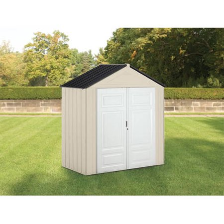 1sale rubbermaid 7 39 x 3 5 39 storage building maple for Garden shed 7 x 3