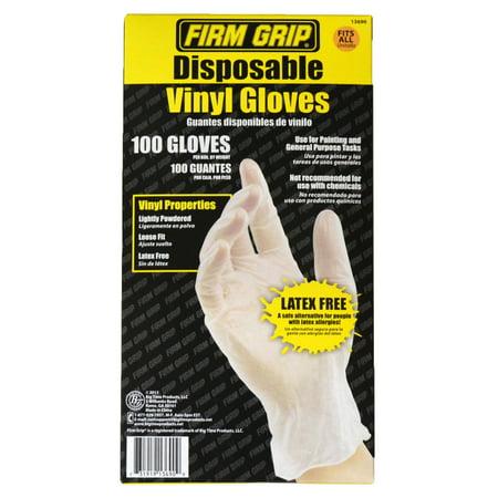 Fibre Grips - Firm Grip Vinyl Gloves, 100ct