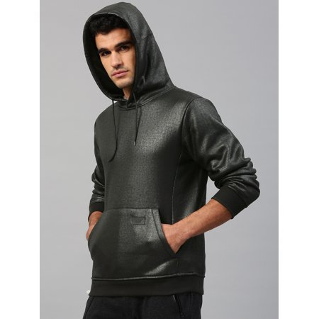 HRX by Hrithik Roshan Men Black Solid Hooded Sweatshirt - image 4 of 6