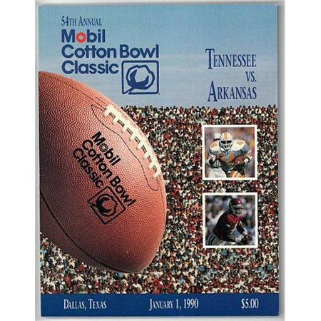 Arkansas Razorback Game (RDB Holdings & Consulting CTBL-020480 Tennessee Volunteers VS Arkansas Razorbacks College Football 54th Mobil Cotton Bowl Classic Game Program - January 1,)