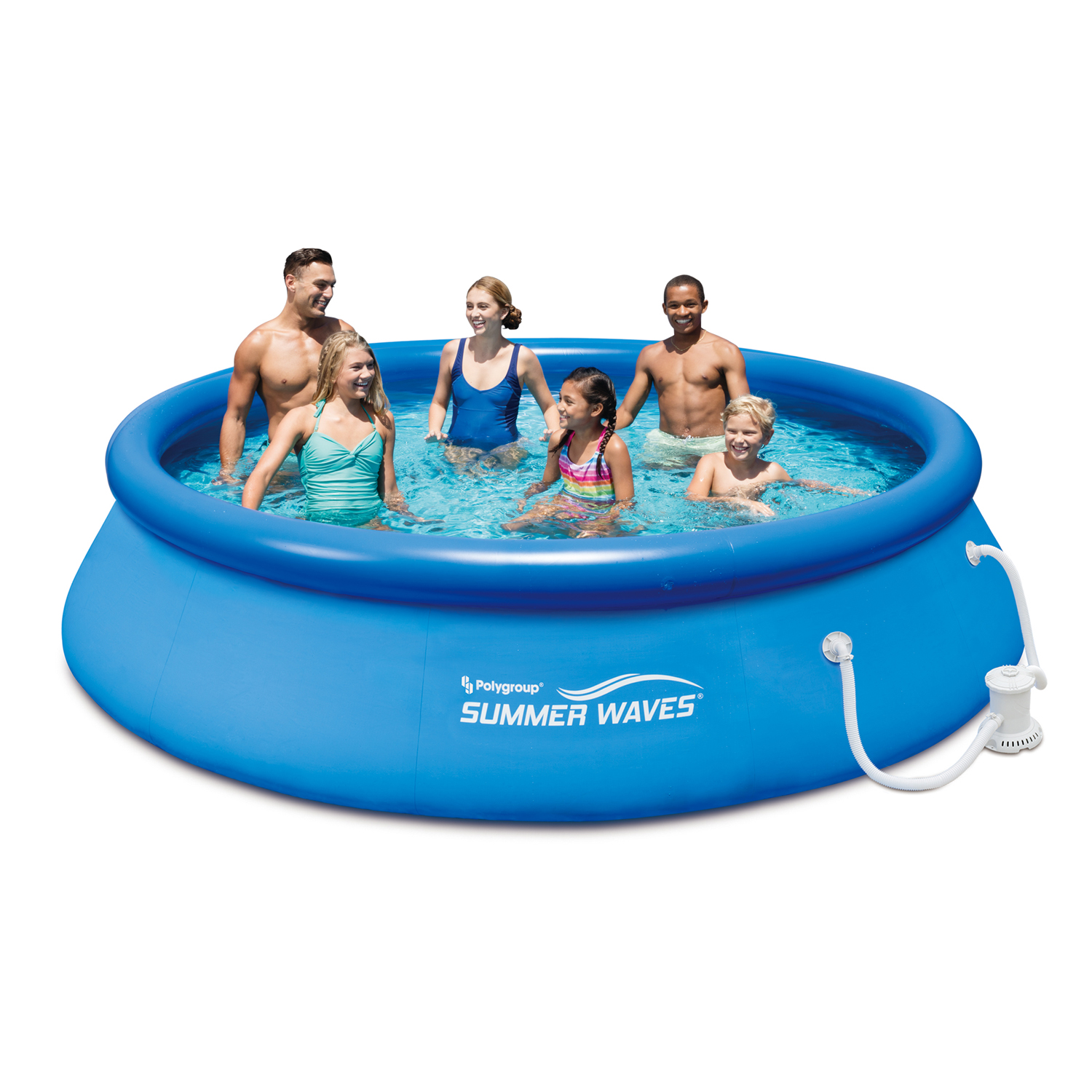 "Summer Waves 12' x 30"" Quick Set Above Ground Swimming Pool with Filter Pump System"