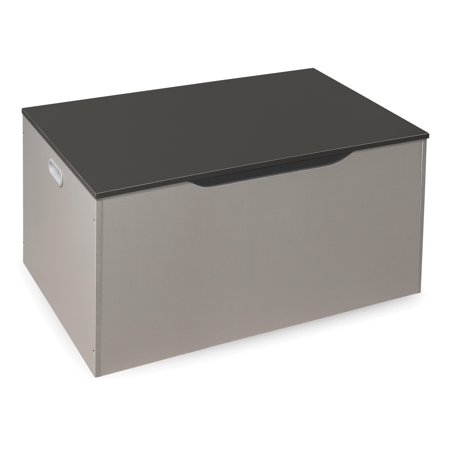 Badger Basket Flat Bench Top Toy and Storage Box - Woodgrain/Gray