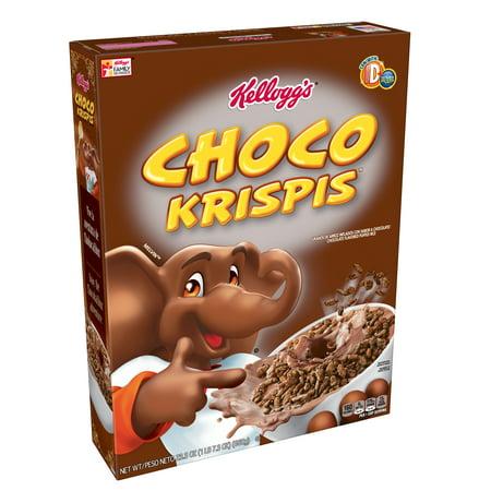 (2 Pack) Kellogg's Choco Krispis Breakfast Cereal 23.3 Oz Box - Rice Crispy Treat Halloween