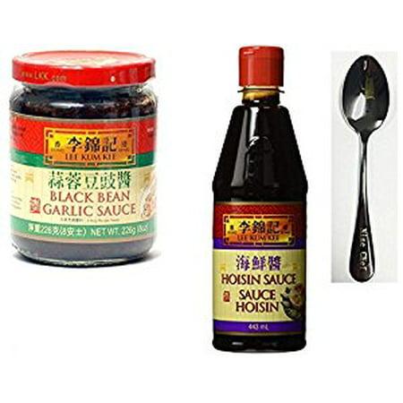 Lee Kum Kee Black bean garlic sauce - 8 oz + Lee Kum Kee Hoisin Sauce  20 oz + One NineChef Spoon