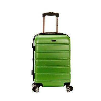 """Melbourne 20"""" Expandable Abs Carry On, Green"""