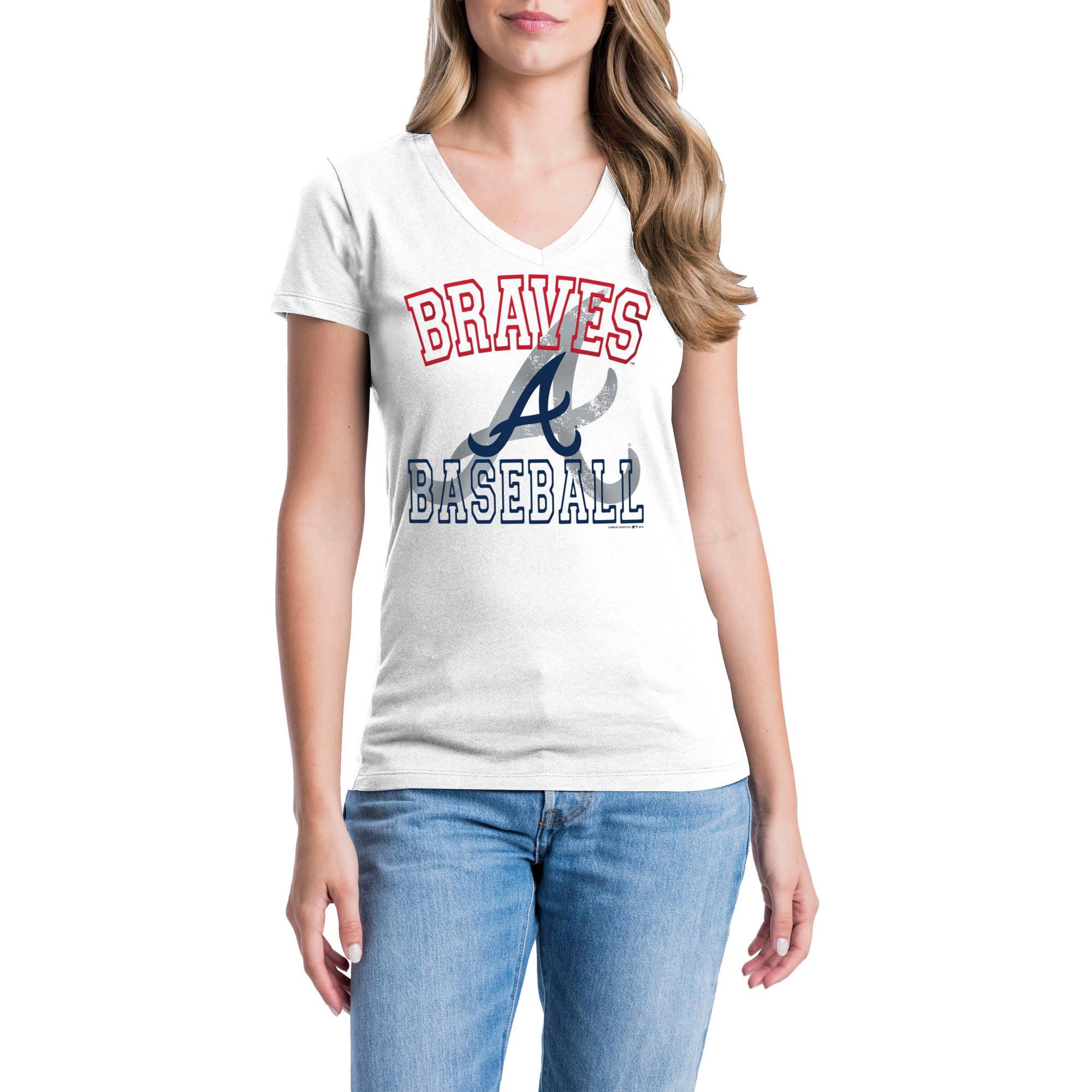 Atlanta Braves Womens Short Sleeve Graphic Tee