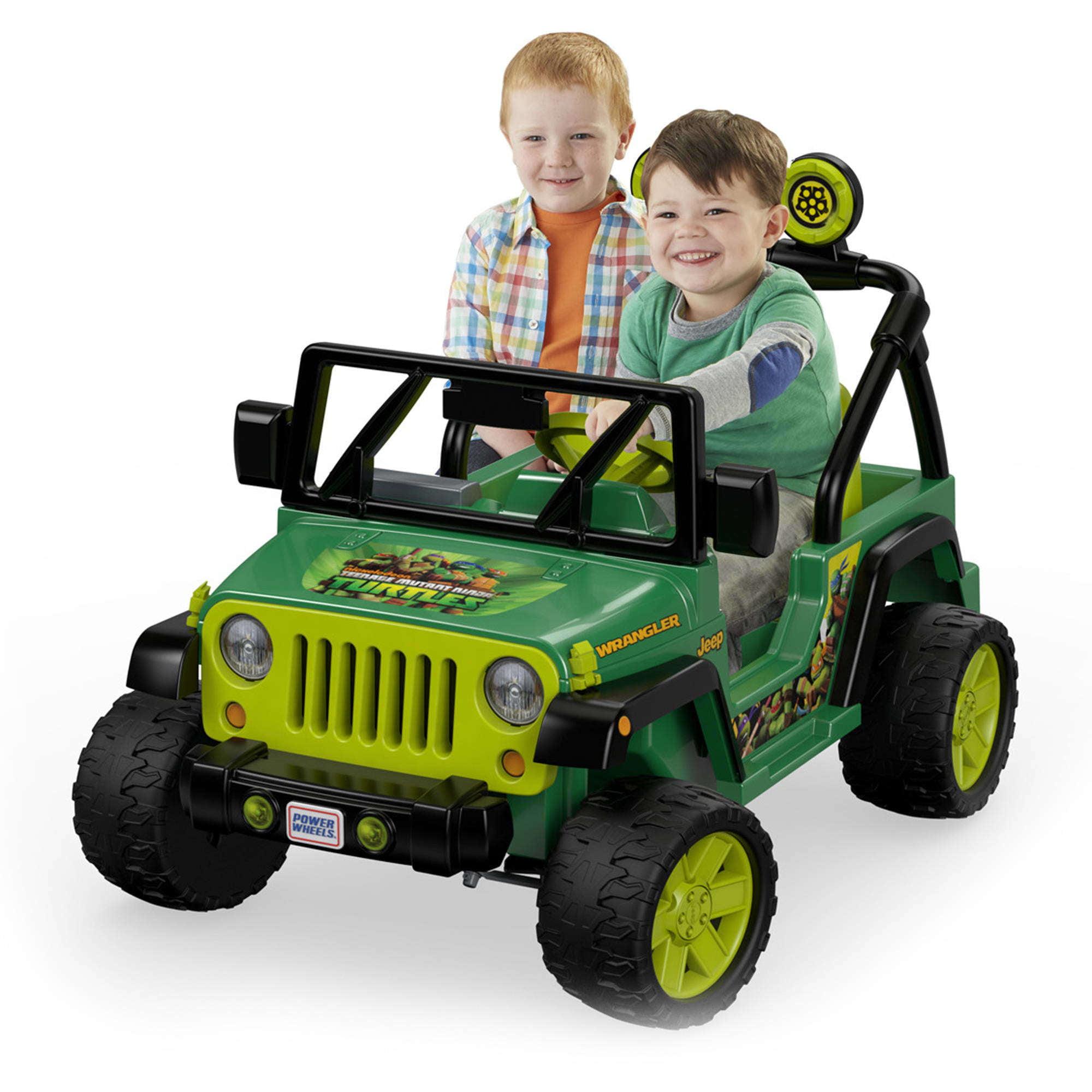 Power Wheels Nickelodeon Teenage Mutant Ninja Turtles Jeep Wrangler 12V Battery-Powered... by FISHER PRICE
