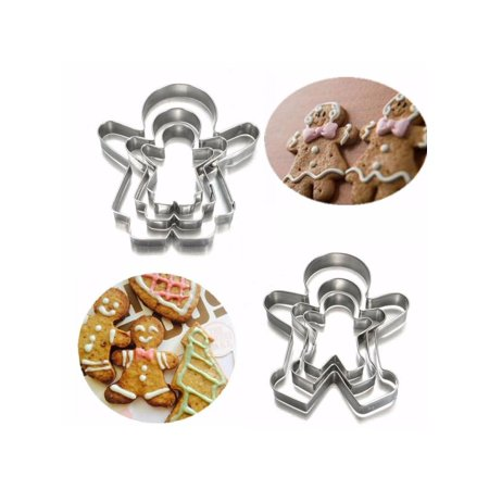3pcs Christmas Ginger Bread MAN WOMAN BOY GIRL Cake Pastry Cookie Biscuit Cutter ()