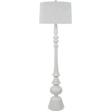 Glossy white resin floor lamp with linen shade walmart glossy white resin floor lamp with linen shade aloadofball Image collections