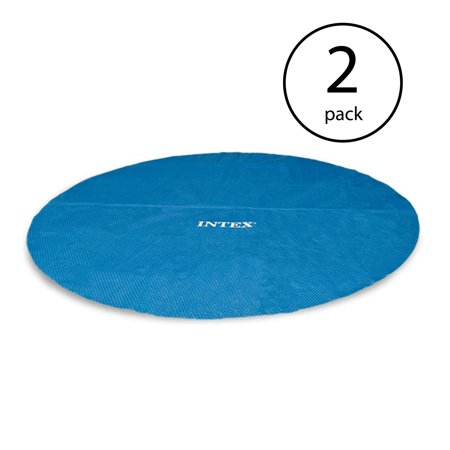 Round Blue Solar Blanket (Intex 18 Foot Round Easy Set Blue Vinyl Solar Cover for Swimming Pools (2 Pack))