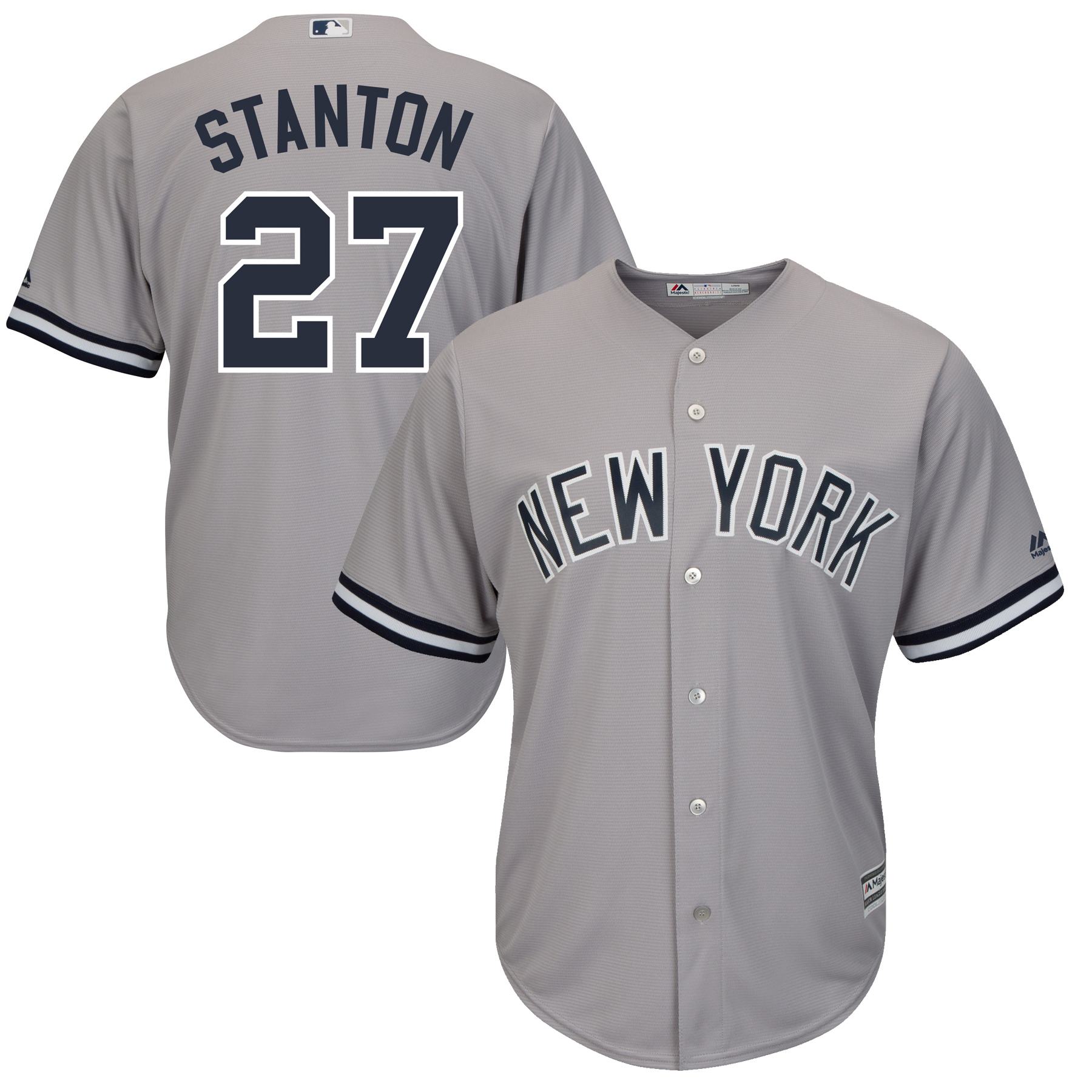 Giancarlo Stanton New York Yankees Majestic Cool Base Replica Player Jersey Gray by MAJESTIC LSG