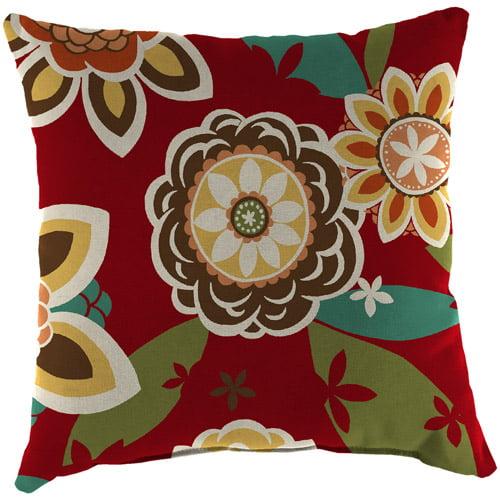 Jordan Manufacturing Indoor/Outdoor Patio Square Toss Pillow, Annie Cherry