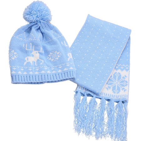 34345172d4d Christmas Baby Hat with Scarf Set